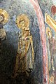 San lorenzo in insula, cripta di epifanio, affreschi di scuola benedettina, 824-842 ca., cristo benedicente alla greca tra i ss. lorenzo e stefano 04.jpg