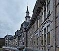 Sanatorium du Basil front deck looking West during the evening civil twilight in Stoumont, Belgium (DSCF3605).jpg