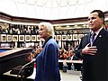 Sandra Day O'Connor and Ron Reagan join in the Pledge of Allegiance.jpg