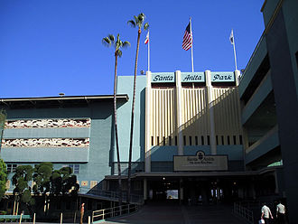 Santa Anita Park - Art deco entrance to Santa Anita's grandstands.