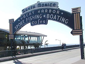 The landmark entrance to Santa Monica Pier