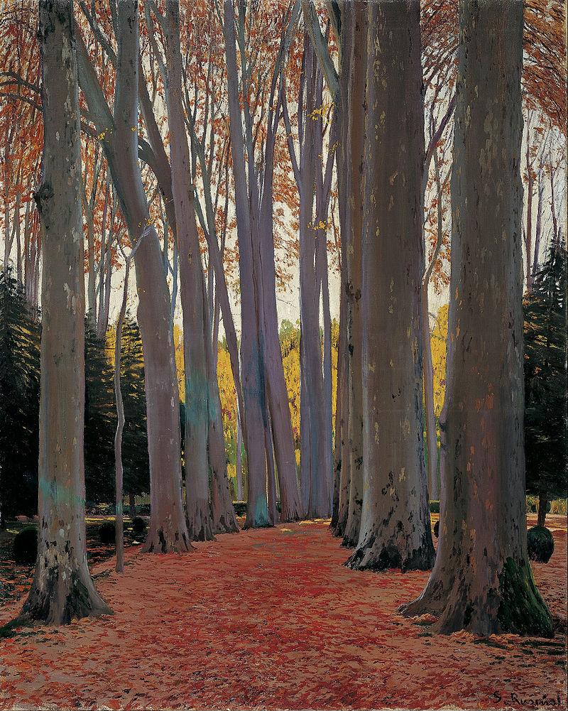 Santiago Rusiñol - Avenue of Plane Trees - Google Art Project.jpg