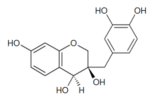 Homoisoflavonoid - Chemical structure of the 3,4-dihydroxyhomoisoflavan sappanol.