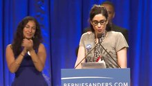 File:Sarah Silverman Introduces Bernie Sanders in L.A..webm