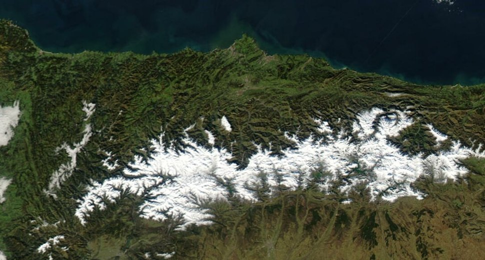 Satellite image of Asturies in January 2003