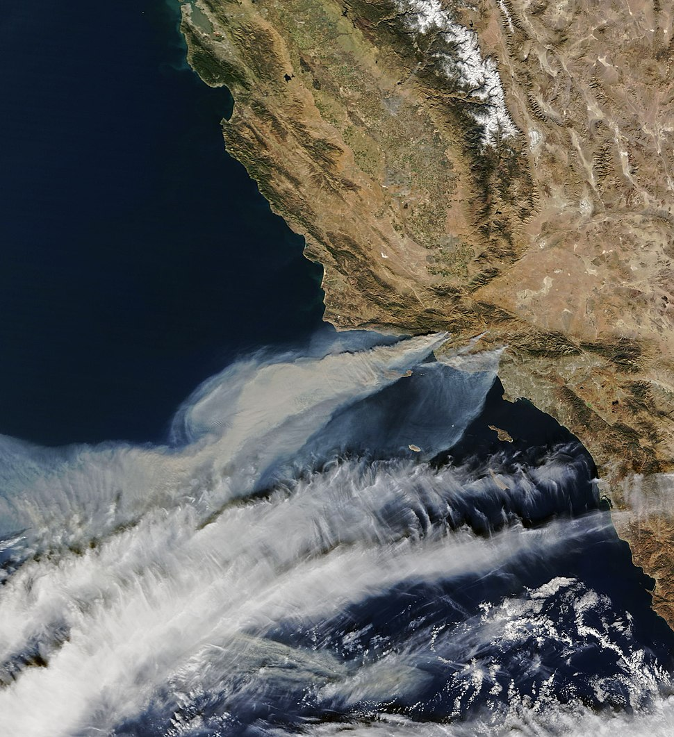 Satellite image of Thomas Fire