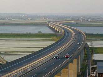 Higashi-Kantō Expressway - Higashi-Kantō Expressway over the Tone River.