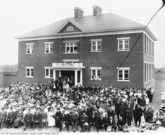 Agincourt, Toronto - The opening of Agincourt Public School in 1914.