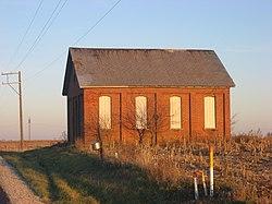 Verlassene Schule an der State Route 274
