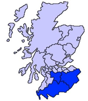 Dumfries and Galloway (UK Parliament constituency) - Image: Scotland Dumfries Galloway Borders S Lanarks
