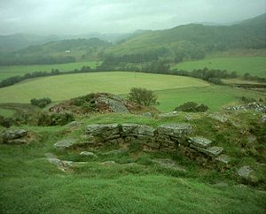 Hillforts in Britain - Dunadd hill fort near Kilmartin in Argyll, similar to ring-forts in Ireland and Iberian castros.