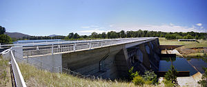 History of Lake Burley Griffin - Scrivener Dam, near the National Zoo & Aquarium in Yarralumla, 2009.