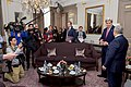 Secretary Kerry Addresses Reporters Before Bilateral Meeting With Algerian Foreign Minister Lamamra on Sidelines of COP21 Climate Change Conference in Paris (22999869544).jpg