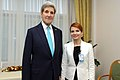 Secretary Kerry Poses With Estonian Foreign Minister Pentus-Rosimannus Before Bilateral Meeting at NATO Headquarters in Belgium (15742744098).jpg