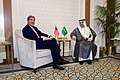 Secretary Kerry Sits with Newly Appointed Saudi Foreign Minister Adel al-Jubeir (17193444297).jpg