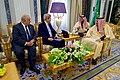 Secretary Kerry and Ambassador Westphal Sit With King Salman (31679484946).jpg