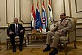 Secretary of Defense Chuck Hagel meets with Egyptian Minister of Defense, Abdel Fatah Saeed Al Sisy, in Cairo, Egypt, April 24, 2013.jpg