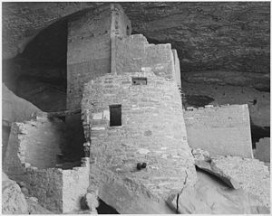 "Section of house, ""Cliff Palace, Mesa Verde National Park,"" Colorado, 1941., 1941 - NARA - 519946.jpg"