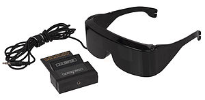 Active shutter 3D system - SegaScope 3-D Glasses, released in 1987