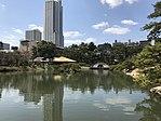 Seifukan Teahouse and Kokokyo Bridge in Shukkei Garden 6.jpg
