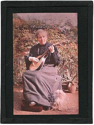 Sarah Angelina Acland - Early 20th-century colour self-portrait photograph of Sarah Angelina Acland.
