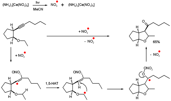 Self Terminating Radical Cyclization