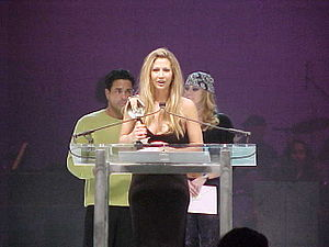Serenity (actress) - Serenity accepting her AVN Award for Best Actress, Video on January 8, 2000