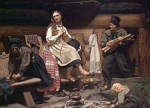 Olaf Isaachsen -  Setesdal Interior (1869)