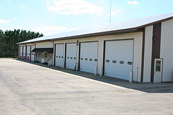 Combined township building and fire station