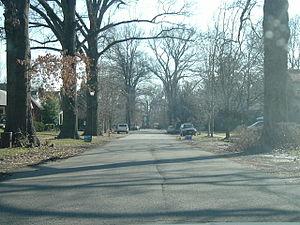 St. Matthews, Kentucky - A residential street in St Matthews