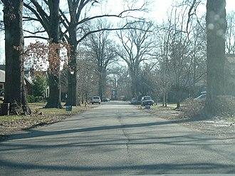St. Matthews, Kentucky - A residential street in St. Matthews
