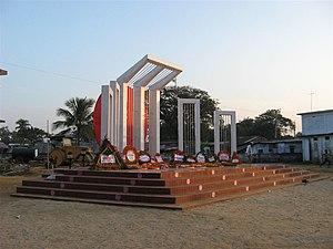 Sylhet Division - Shaheed Minar replica at Srimongol
