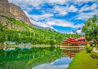Skardu City in Gilgit Baltistan, Pakistan