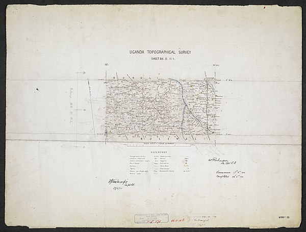 600px sheet north a 36 o   war office ledger.uganda topographical survey   sheets 3%2c4 and 5. %28woos 13 3 4%29