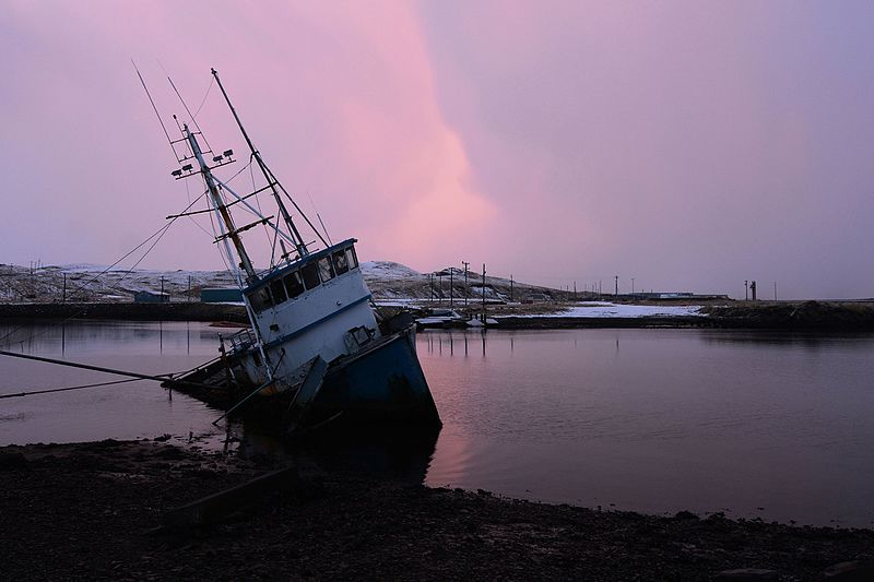 File:Shipwreck in the Adak Harbor. Adak Island, Alaska.jpg