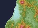 Shonai Plain Relief Map, SRTM-1.jpg