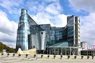 Telewizja Polska - Main TVP headquarters at 17 Jan Paweł Woronicz street (ul. Jana Pawła Woronicza), Warsaw, Poland