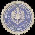 Siegelmarke Der Reichs-Kommissar für die Welt-Ausstellung in Chicago 1893 W0323276.jpg