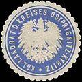 Siegelmarke K. Landrat d. Kreises Ostprignitz Kyritz W0387693.jpg