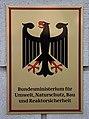 Sign, Bundesministerium für Umwelt, Naturschutz, Bau und Reaktorsicherheit, Stresemannstraße 128, Berlin, Germany, 2014-07-13-3374.jpg