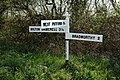 Signpost at Thriverton Cross - geograph.org.uk - 414706.jpg