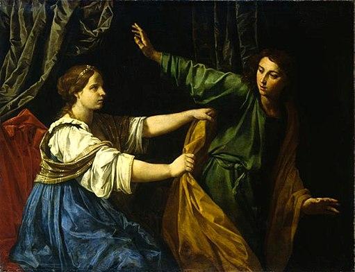 Simone Cantarini - Joseph and Potiphar's Wife