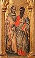 Simone dei crocifissi (attr.), sportelli con annunciazione e quattro santi, 1355-90 ca. 04 antonio abate e il battista.jpg