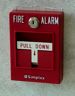 Manual fire alarm activation fire