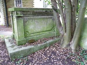 Sir Alexander Maitland, 1st Baronet - Sir Alexander Maitland's grave, St Andrew's church, Totteridge.