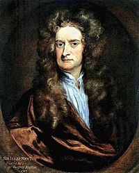 Portrait of Isaac Newton in 1702