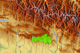 Sierra y Cañones de Guara Natural Park - Natural Park boundaries in the province of Huesca