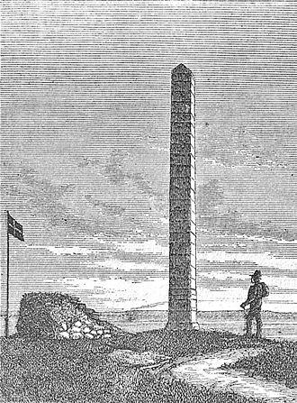 Skamlingsbanken - Drawing of the memorial on Højskamling at Skamlingsbanken.