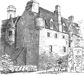 Skelmorlie Castle - The castle frontage from the northeast in the 1880s.