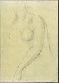 Sketch of a Female Nude Resembling the Medici Venus (Smaller Italian Sketchbook, leaf 19 recto) MET DP269427.jpg